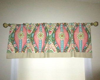 Small curtain panel, bedroom valance, window treatments, curtain valance, kitchen valance, retro style valance