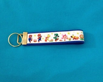 Super  Mario Bros key fob holder wristlet