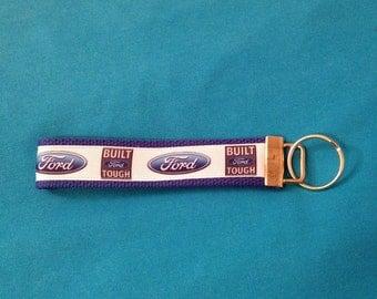 Ford ( Built Tough ) key fob holder wristlet