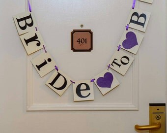 Bride To Be Wedding/Bridal Shower Sign Purple