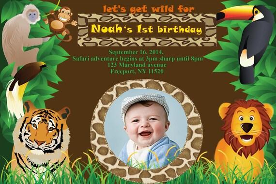 Safari Birthday Invitations unitedarmyinfo