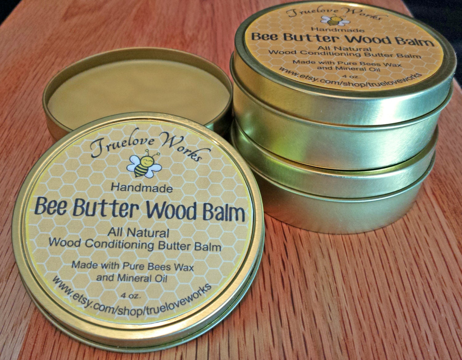 Natural Bee Butter Wood Balm Protects Cutting Boards Butcher