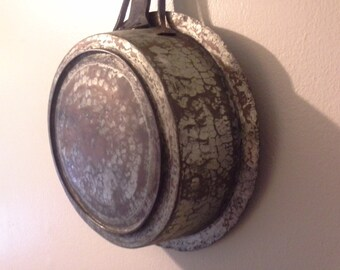 Antique hand forged copper pan