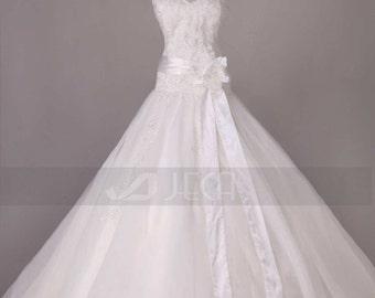Full A-line Sweetheart Neckline Chic Wedding Gown Romantic Wedding Dress W871