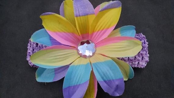 Hawaiian Headband Rainbow Headband Baby By