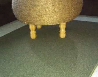 Upcycled Tire Footstool / Table/Ottoman
