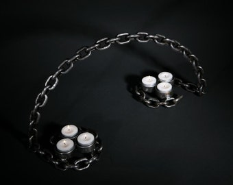 Individually Crafted Candle Arch made from welded chain