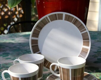 Vintage Mid Century Noritake cups , saucer and side plate