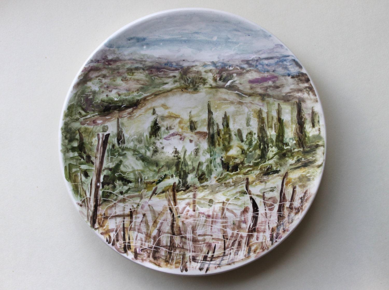 Hand Painted Italian Ceramic Plates
