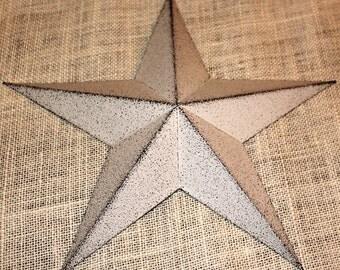 "16"" Large Metal Tin Barn Star - Decor"