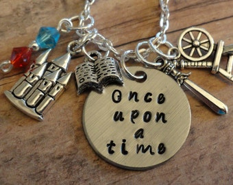 Once Upon a Time necklace-Fairytale inspired-Wonderland