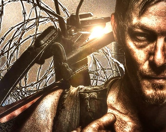 Daryl Dixon - Inspired by the walking dead zombie zombies zombie art zombie life Norman Reedus