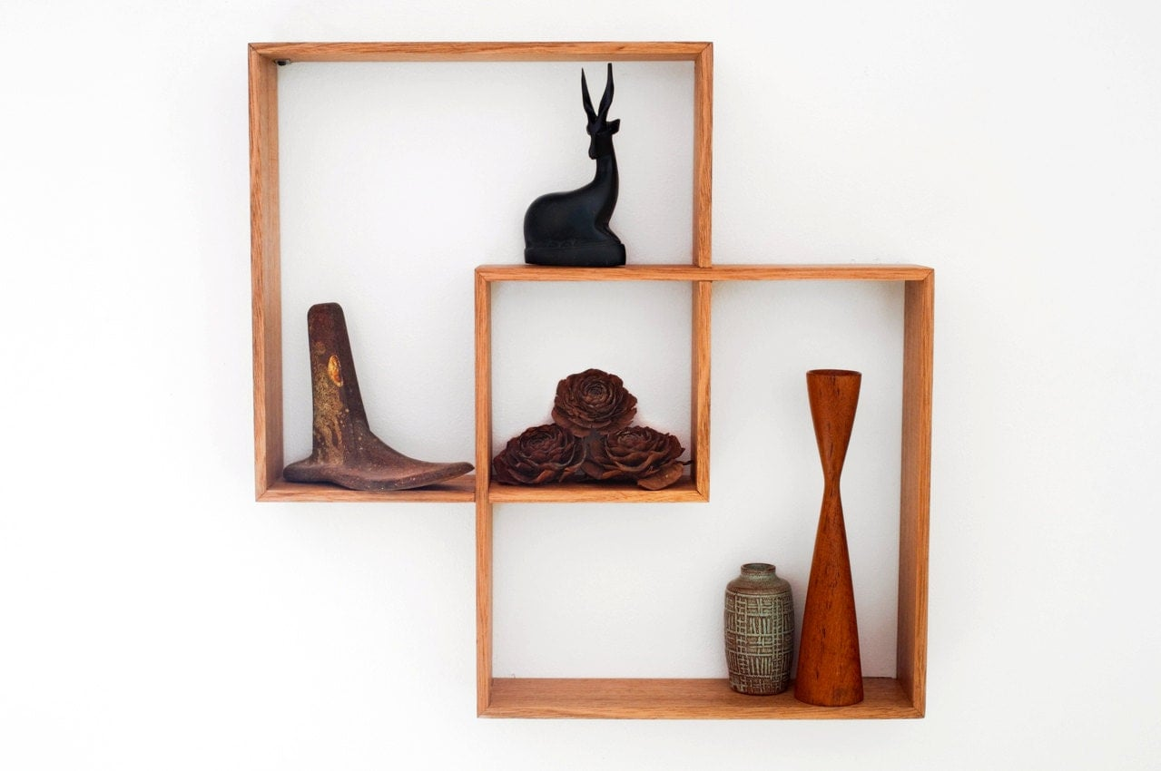 2 shadow box to display your treasureswall hanging shelf wood zoom amipublicfo Images