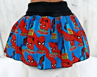 Spiderman retro Comic Book Skirt shirt ready to ship Small / Medium