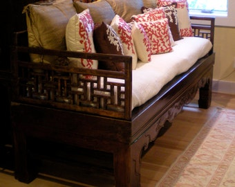 Love asian hand carved wood daybed more lip