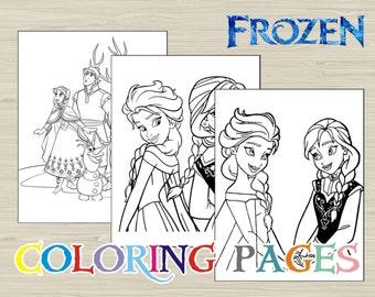 Disney FROZEN Coloring Pages Book
