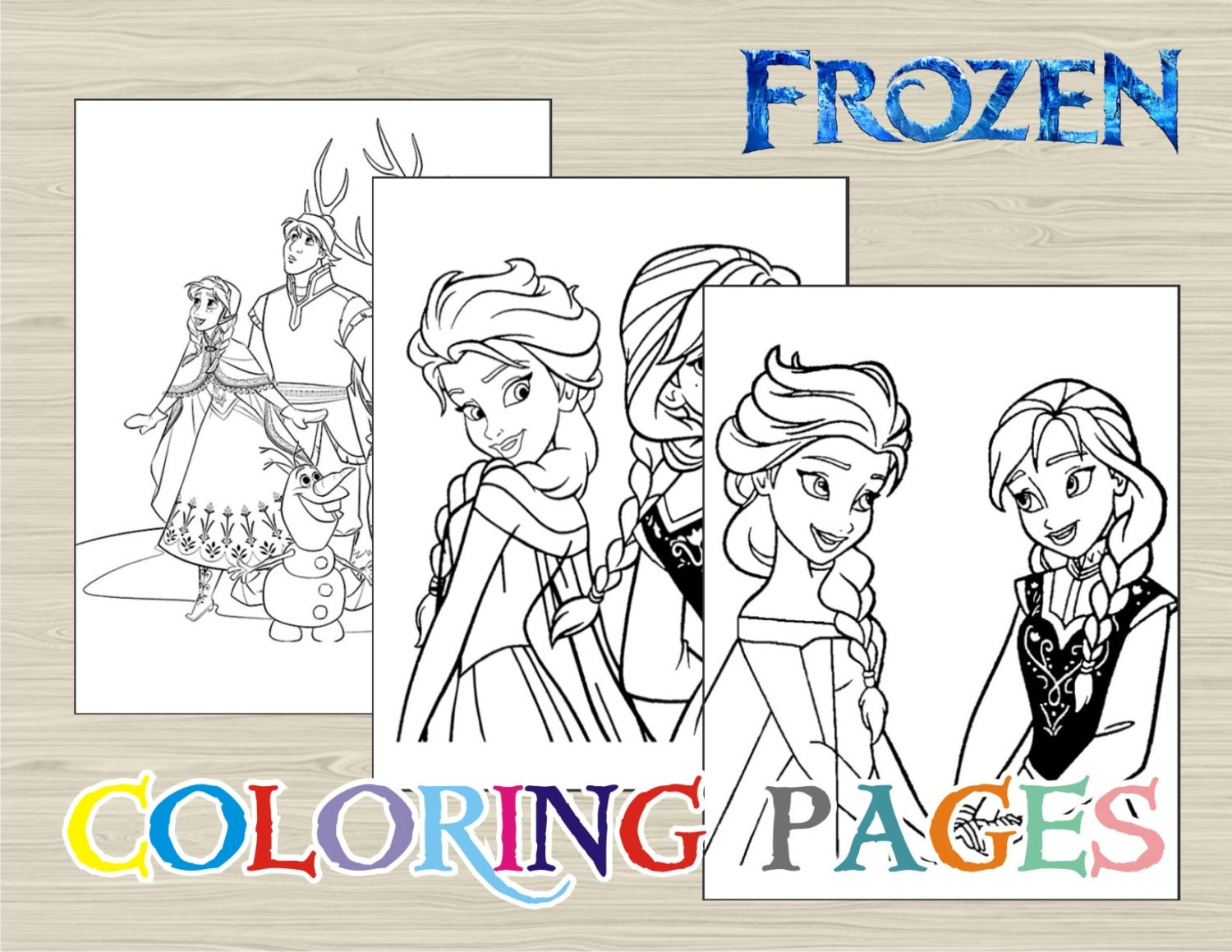 Disney FROZEN Coloring Pages Book By UNIQcards
