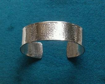Mens Sterling Silver bracelet hammered