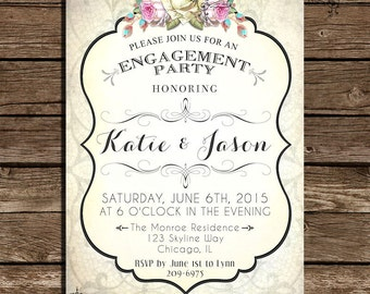 Digital Engagement Party Invitation