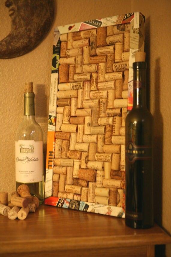 wine cork board with wine label frame. Black Bedroom Furniture Sets. Home Design Ideas
