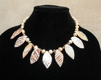 Mother of Pearl Sunburst necklace.