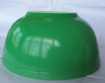 Vintage Pyrex Primary Color Green Nesting Mixing Bowl #403 MCM