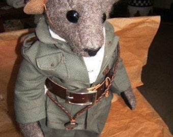 Ranger,  a one of a kind alpaca teddy bear