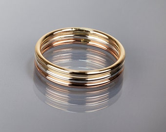 Stackable ring, Choose a color-Yellow, Rose gold or Argentium silver, Purchase by set or single, Knuckle ring, Gold filled, Toe ring, Gift