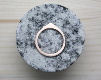 ENLUMINURE//  No10 // bronze ring // droplet ring // stacking ring