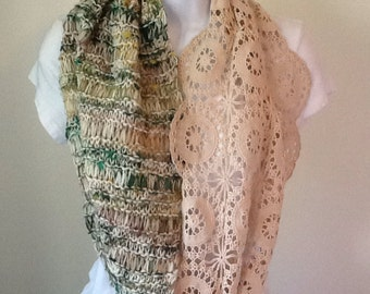 Lace and knitted cowl