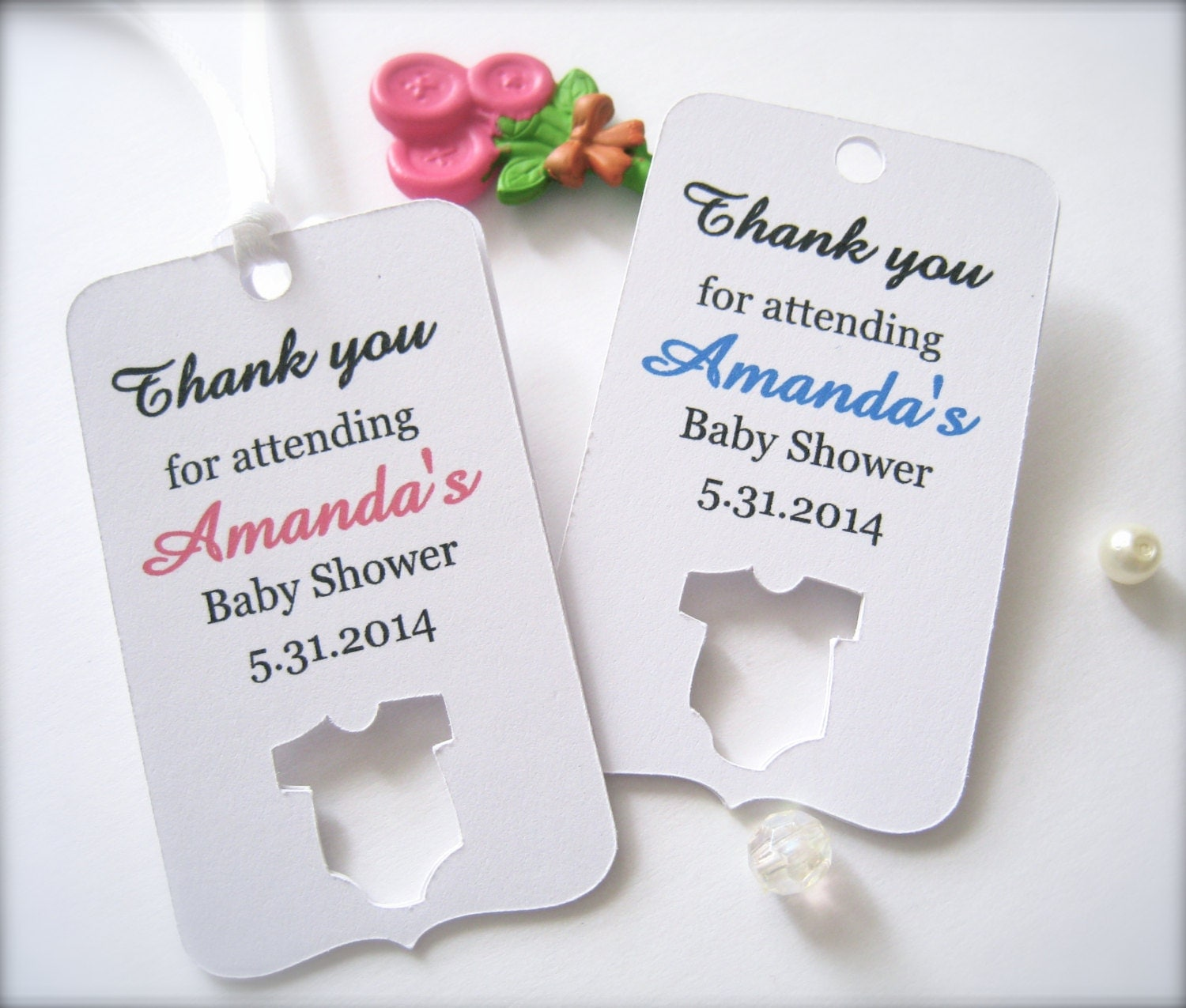 baby shower favor tags custom shower tags die cut tags baby