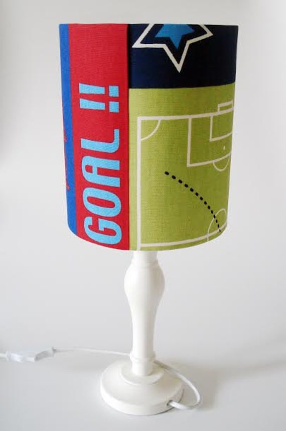 Football player pitch goal and trophy lampshade for ceiling or bedside lights