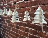 Recycled book page tree decor garland
