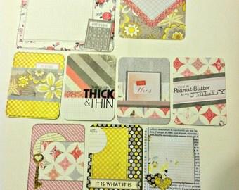 "Handmade PL Project Life journaling card set ""We go Together"""