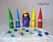 Waldorf Math Gnomes with Queen Equals ~ Math Manipulative ~ Math Processes ~ Math Symbols ~ Educational Toy ~ Wood Peg Gnomes ~Made to Order