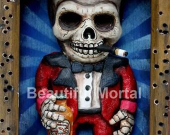 Beautiful Mortal Hunter Thompson Dia De Los Muertos Drunken Skull Canon PRINT 291 Reproduction