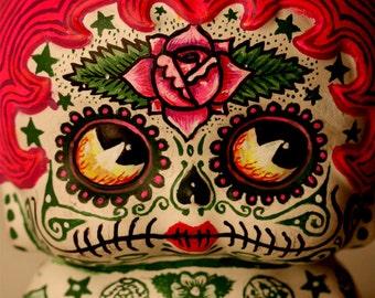 Beautiful Mortal Adorable Pink Dia De Los Muertos Tattooed Deadey betty Boop PRINT 307 by Michael Brown