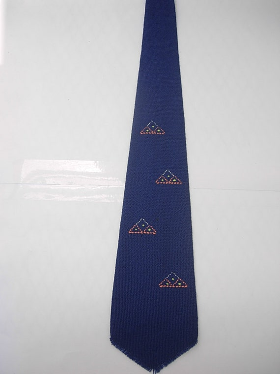 New 1920s Mens Ties & Bow Ties Beautiful Native American Woven 1920s Wool Tie $36.00 AT vintagedancer.com
