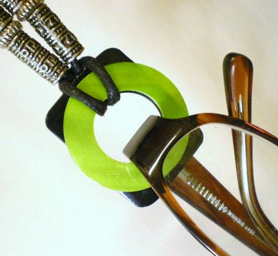 Lime Green Eyeglass Frames : Eyeglasses Holder Asian Style Lime Green & by JewelryArtByDawn