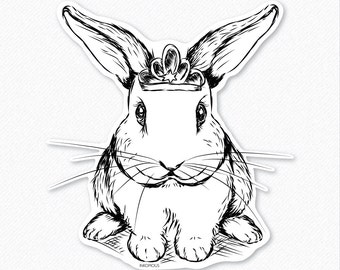 Royal Bunny Decal Sticker