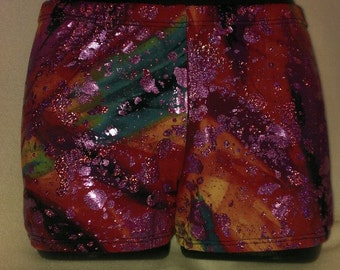 Hologram Cheer Bloomer cheer short shiny bloomers shorts