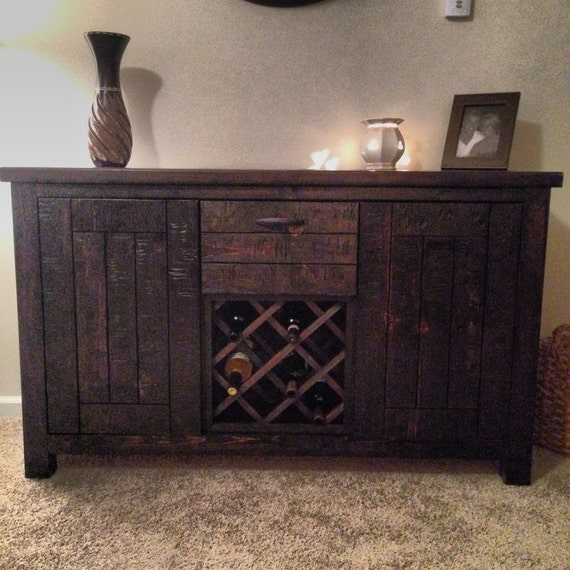 Items Similar To Rustic Handmade Distressed Wood Hutch