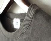 Wisequeen's spring half sleeves Tshirt dark army green Tshirt sample but special Tshirt round no collar loose fit Tshirt cotton Tshirt-TS07