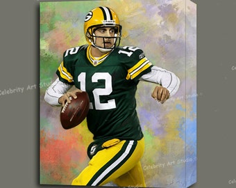 """Aaron Rodgers Concert Canvas Art W Gallery Wrap Ready To Hang Up To Size 36X44X1.5"""""""