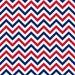Ups and Downs Chevron Red/White/Blue Fabric
