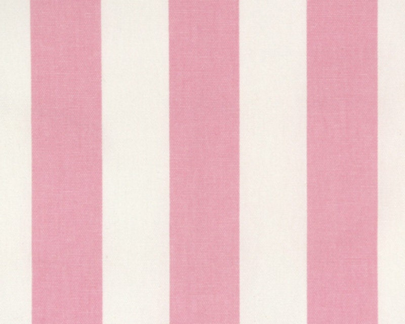 Drapery fabric upholstery fabric baby pink white stripe for Upholstery fabric children