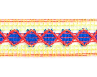 30yds Retro Braid Trim (Multi-Coloured)
