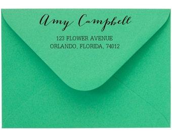 Custom Name Stamp, Personalised Name Stamp, Address Stamp Custom Rubber Stamp, Calligraphy Stamp, Wood Handle or Self Inking