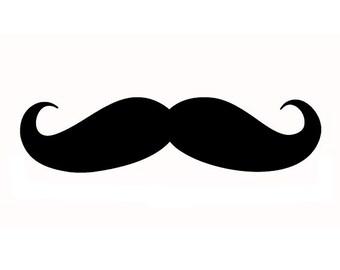 Custom Moustache Stamp, Rubber Stamp, Gift Stamp