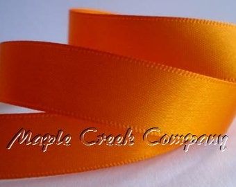 "5 yards of Orange Double Face Satin Ribbon, 1-1/2"" x 5 yards"